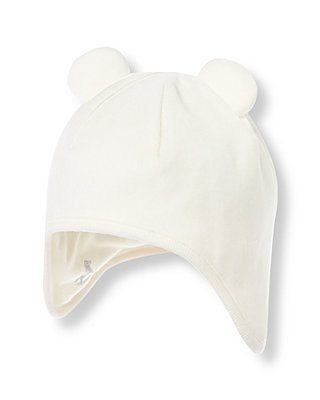 Ivory Velour Hat at JanieandJack