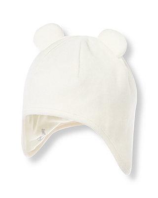 Ivory Velour Hat at JanieandJack