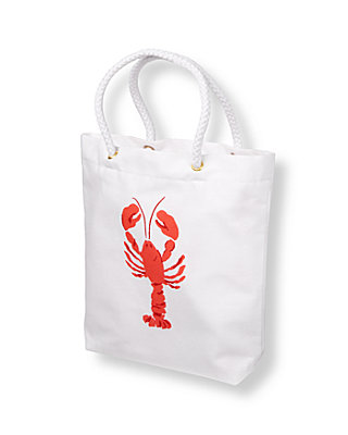 Classic White Lobster Tote at JanieandJack