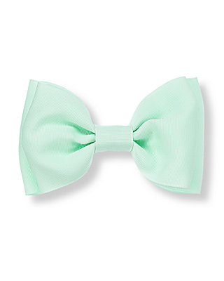 Mint Green Bow Barrette at JanieandJack