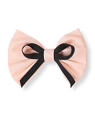 Parisian Pink Ribbon Bow Barrette at JanieandJack
