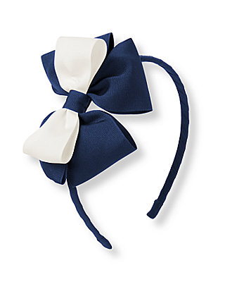 Navy Bow Headband at JanieandJack