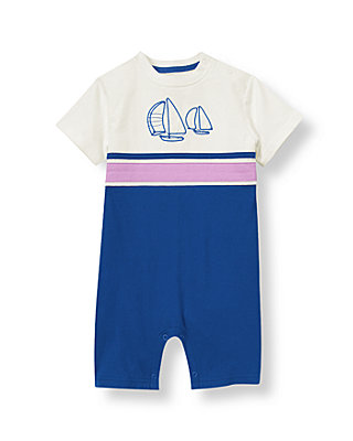 Ocean Indigo Sailboat Striped One-Piece at JanieandJack