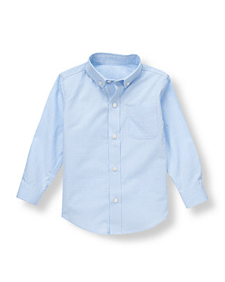 Pale Blue Stripe Dobby Striped Shirt at JanieandJack
