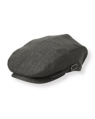 Grey Herringbone Herringbone Cap at JanieandJack