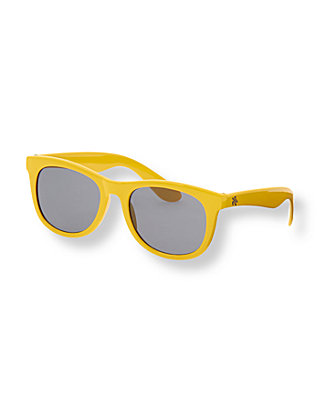 Boys Amber Yellow Classic Sunglasses at JanieandJack