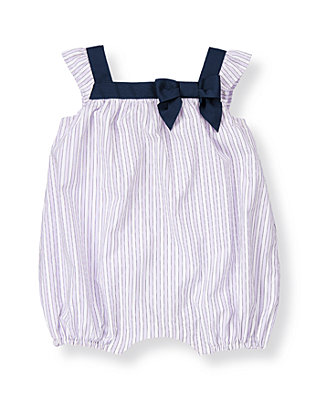 Lavender Stripe Striped Bubble One-Piece at JanieandJack