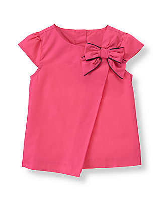 Haute Pink Bow Top at JanieandJack