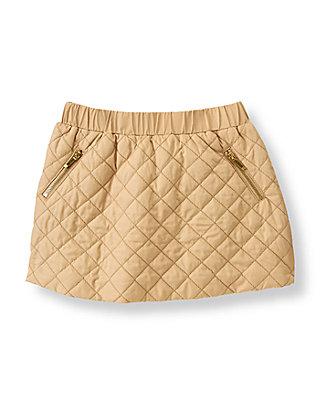 Camel Quilted Skirt at JanieandJack