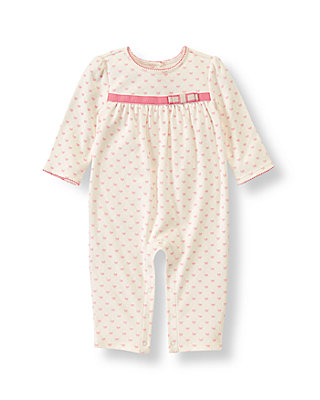 Baby Girl Ivory Bows Bow Print One-Piece at JanieandJack