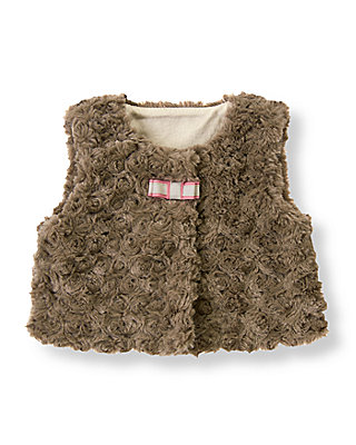 Fawn Faux Fur Shrug at JanieandJack