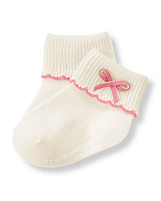 Ivory Bow Sock at JanieandJack