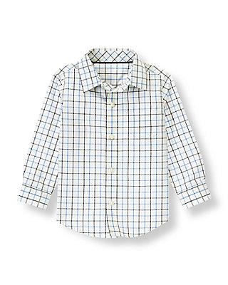 Cornflower Blue Check Checked Shirt at JanieandJack