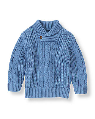 Cornflower Blue Cable Sweater at JanieandJack