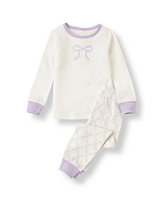 Ivory Bow Pajama Set at JanieandJack