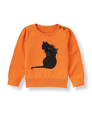 Pumpkin Cat Sweater at JanieandJack
