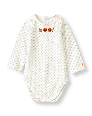 Ivory Dot Boo Dot Bodysuit at JanieandJack