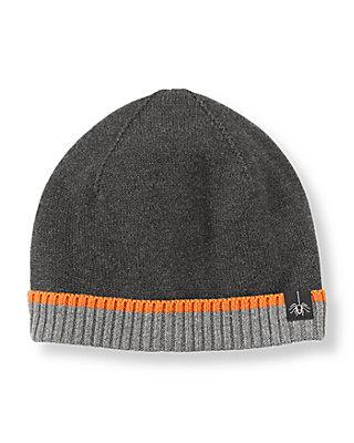 Black Colorblock Sweater Hat at JanieandJack