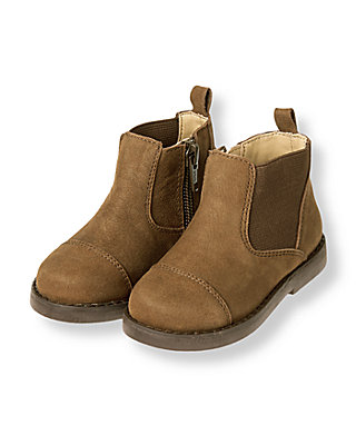 Brown Leather Ankle Boot at JanieandJack