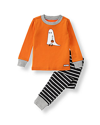 Pumpkin Ghost Pajama Set at JanieandJack