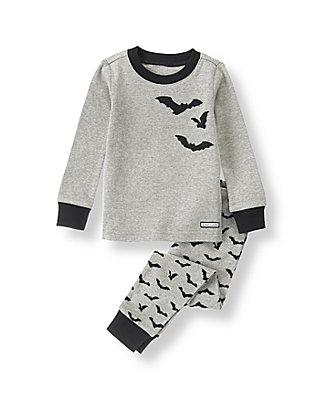 Heathered Grey Bat Pajama Set at JanieandJack