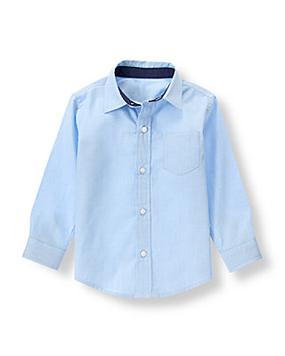 Classic Blue Dress Shirt at JanieandJack