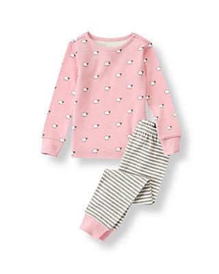 Pink Sheep Print Pajama Set at JanieandJack