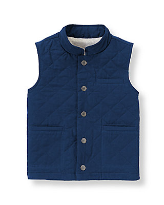 Navy Quilted Vest at JanieandJack