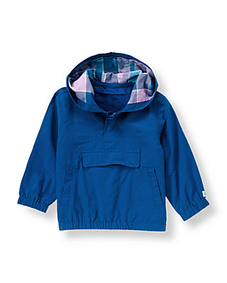 Ocean Indigo Hooded Windbreaker at JanieandJack