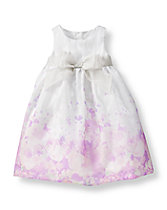 Silk Organza Blossom Dress