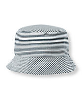 Striped Seersucker Bucket Hat