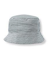 Striped Seersucker Bucket Hat