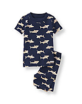 Shark Print Pajama Set