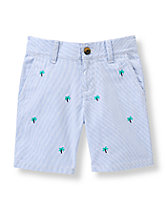 Palm Tree Striped Short