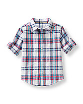 Plaid Seersucker Shirt