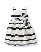 Organdy Striped Dress