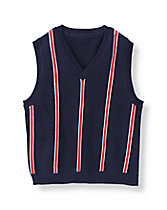 Striped V-Neck Sweater Vest