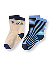 Car Stripe Sock Two-Pack