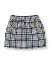 Plaid Quilted Skirt