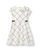Windowpane Ponte Dress