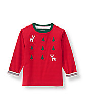 Forest Reindeer Reversible Tee