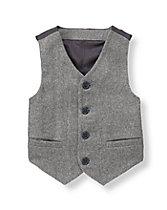 Wool Blend Suit Vest