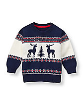 Reindeer Fair Isle Sweater