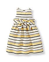 Shimmer Striped Dress