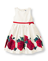 Rose Border Dress