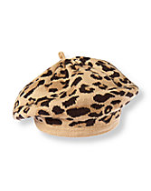 Leopard Sweater Beret