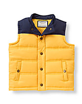 Colorblock Puffer Vest