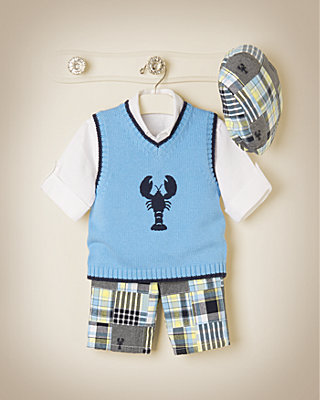 Patchwork Lobster Outfit by JanieandJack