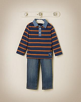 Sharp Stripes Outfit by JanieandJack