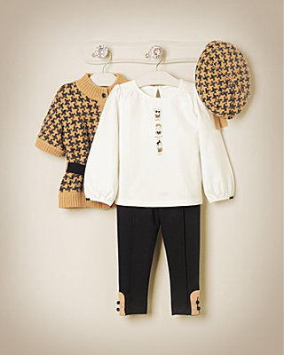 Houndstooth Honey Outfit by JanieandJack